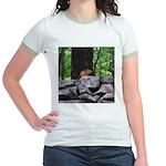 Cute Chipmunk Jr. Ringer T-Shirt