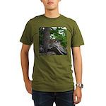 Chipmunk With Nut Organic Men's T-Shirt (dark)