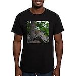 Chipmunk With Nut Men's Fitted T-Shirt (dark)