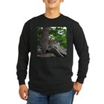 Chipmunk With Nut Long Sleeve Dark T-Shirt