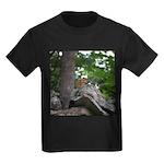Chipmunk With Nut Kids Dark T-Shirt