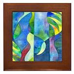 Jungle River Framed Tile