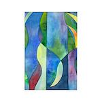 Jungle River Rectangle Magnet (100 pack)
