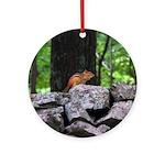 Cute Chipmunk Ornament (Round)