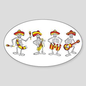 Pirates Plunder Oval Sticker