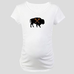 BUFFALO LACROSSE Maternity T-Shirt