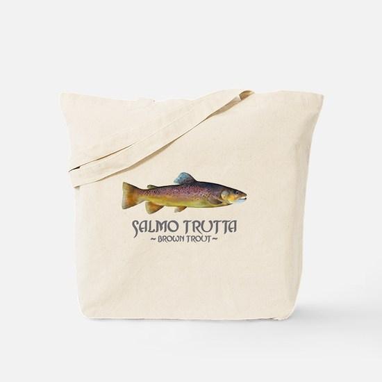 Salmo Trutta - Brown Trout Tote Bag
