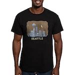Seattle Men's Fitted T-Shirt (dark)