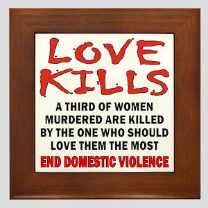 Love Kills Framed Tile