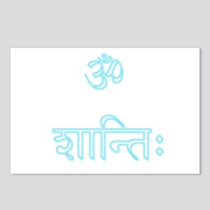 aum shanti Postcards (Package of 8)