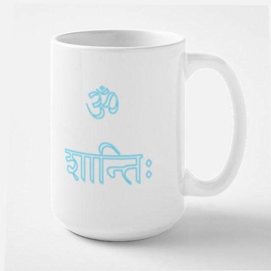 aum shanti Large Mug