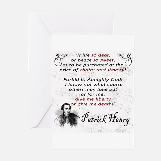 Liberty or Death Greeting Cards (Pk of 10)