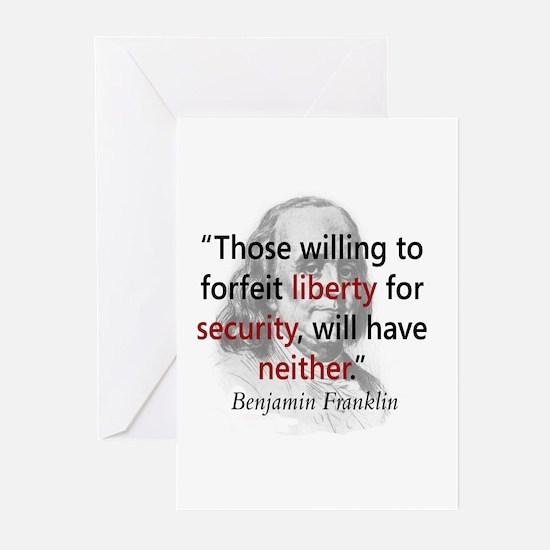 Benjamin Franklin Greeting Cards (Pk of 10)