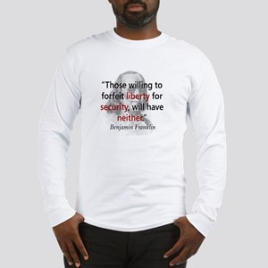 Benjamin Franklin Long Sleeve T-Shirt