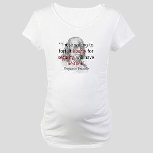 Benjamin Franklin Maternity T-Shirt