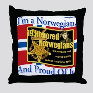 Honored Norwegians! Throw Pillow