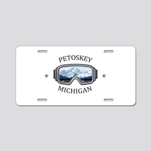Petoskey Winter Sports Park Aluminum License Plate