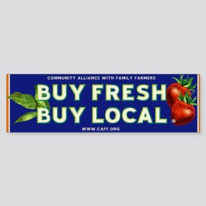 Buy Fresh Buy Local classic Bumper Sticker