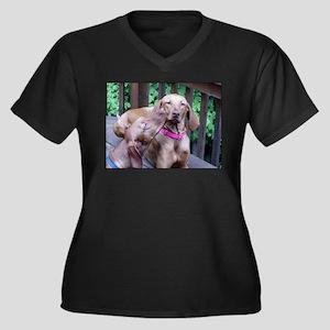 lvwcrstuff4 Women's Plus Size V-Neck Dark T-Shirt