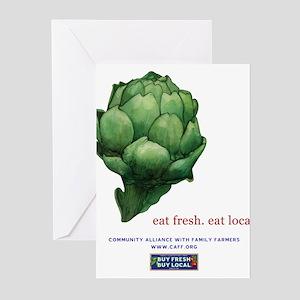 Eat Fresh Artichoke Greeting Cards (Pk of 10)