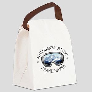 Mulligan's Hollow Ski Bowl - Gr Canvas Lunch Bag