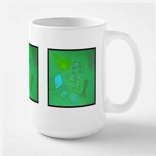 Frustration Large Mug w/Triple Sided Images