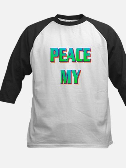 PEACE MY ASS! Kids Baseball Jersey