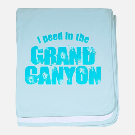 I Peed in the Grand Canyon baby blanket