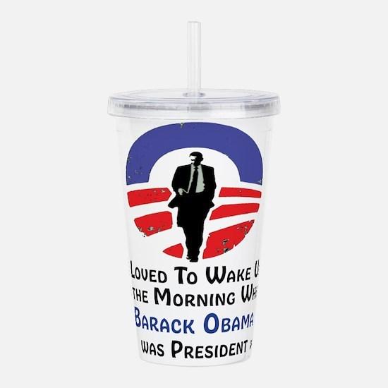Cute Barack obama Acrylic Double-wall Tumbler