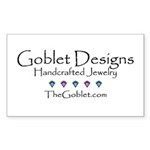 Goblet Designs Rectangle Sticker 50 pk)