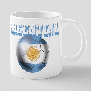 Argentina Soccer Ball 20 oz Ceramic Mega Mug