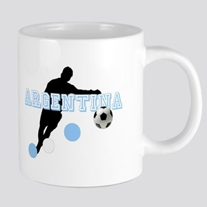 Argentina Soccer Player 20 oz Ceramic Mega Mug