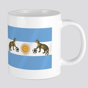 Argentina Football Flag 20 oz Ceramic Mega Mug