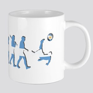 Argentinia Soccer Evolution 20 oz Ceramic Mega Mug
