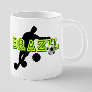 Brazil Soccer Player 20 oz Ceramic Mega Mug