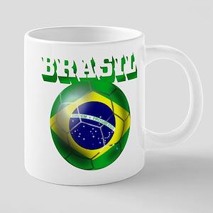Brasil Football 20 oz Ceramic Mega Mug