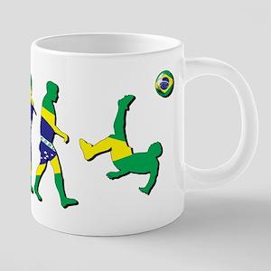 Evolution of Brazil Football 20 oz Ceramic Mega Mu