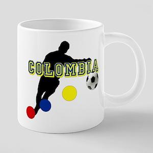 Columbia Soccer Player 20 oz Ceramic Mega Mug