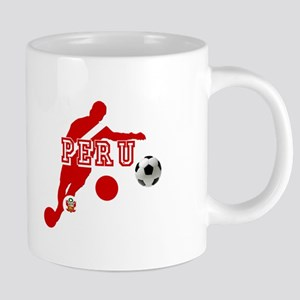 Peru Football Player 20 oz Ceramic Mega Mug