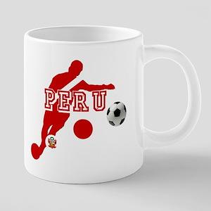 Peru Football Player 20 oz Ceramic Mega Mug