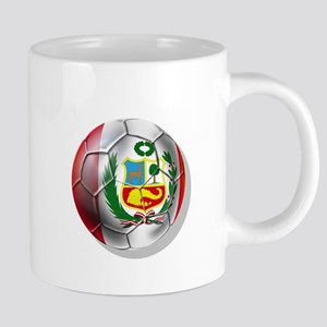 Peru Soccer Ball 20 oz Ceramic Mega Mug