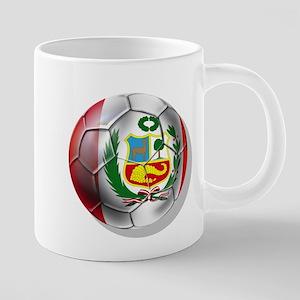 Peru Soccer Ball 20 oz Ceramic Mega Mug