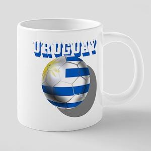 Uruguay Soccer Ball 20 oz Ceramic Mega Mug