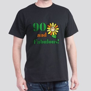 Fabulous 90th Birthday Dark T-Shirt