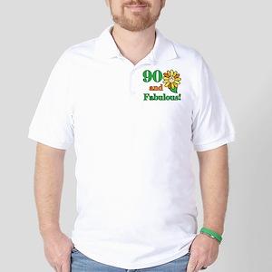 Fabulous 90th Birthday Golf Shirt