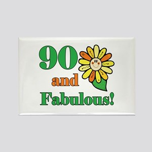 Fabulous 90th Birthday Rectangle Magnet