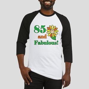 Fabulous 85th Birthday Baseball Jersey