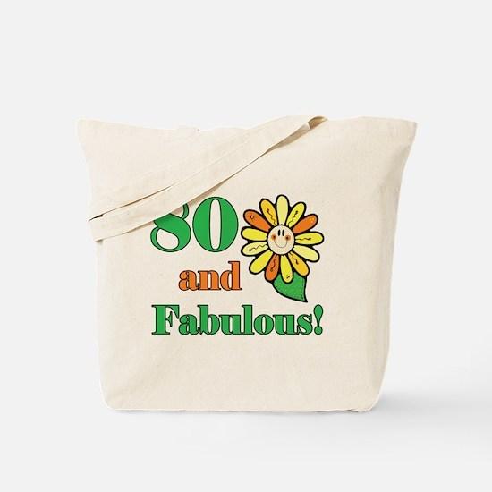 Fabulous 80th Birthday Tote Bag
