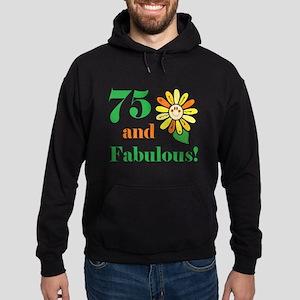 Fabulous 75th Birthday Hoodie (dark)