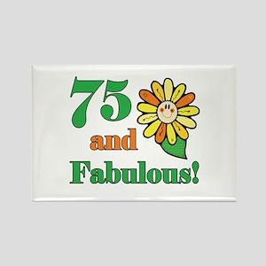 Fabulous 75th Birthday Rectangle Magnet